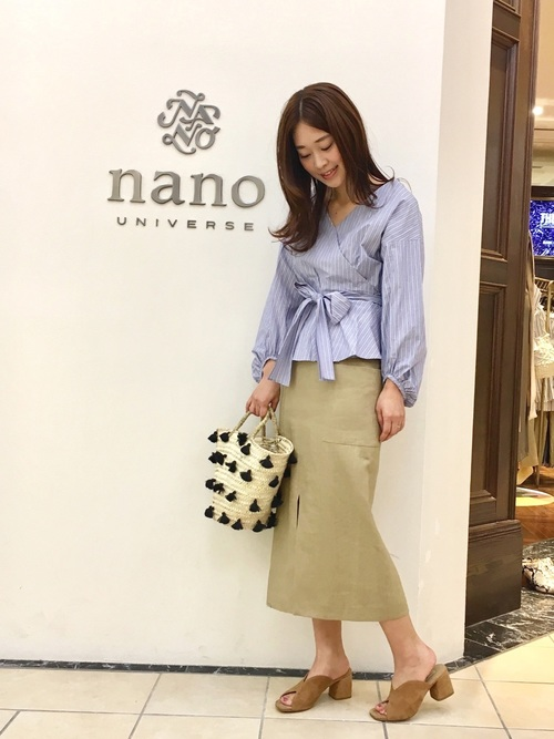 [nano・universe] 【with 7月号掲載】【Marisol 7月号掲載】リネンスリットスカート