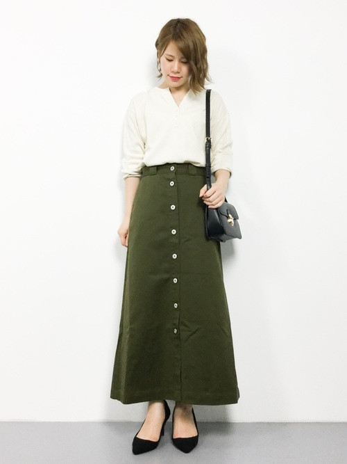 Dickies×Sonny label 別注フロントボタンスカート
