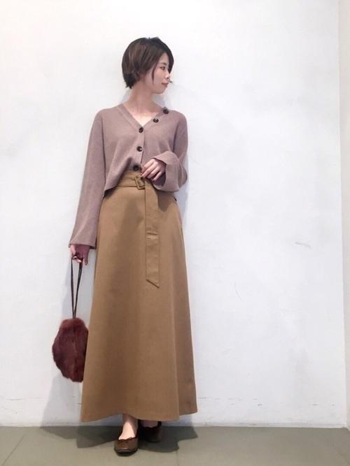 [URBAN RESEARCH ROSSO WOMEN] ベルト付きマキシスカート