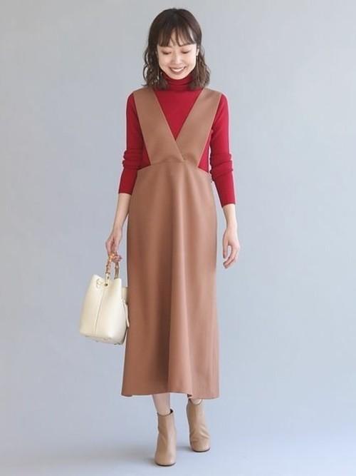 [Spick & Span] クロスサスペンダージャンパースカート◆