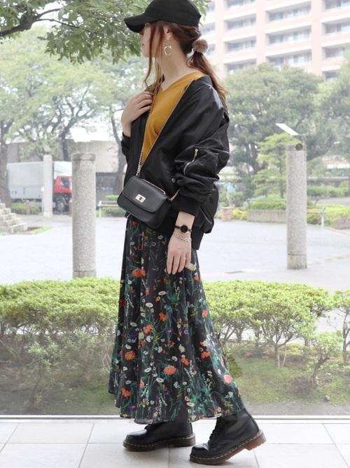 ライブコーデ 花柄スカート2