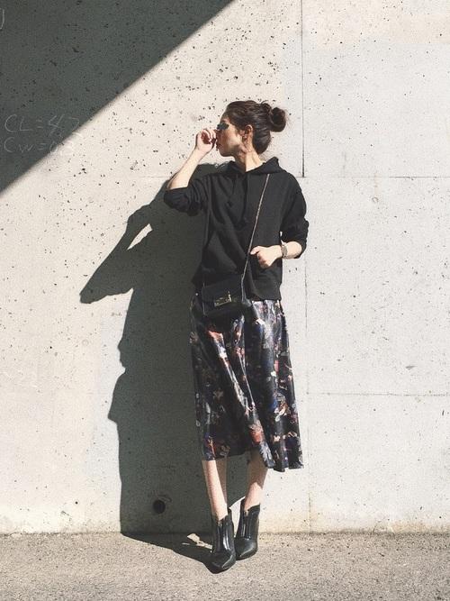 ライブコーデ 花柄スカート