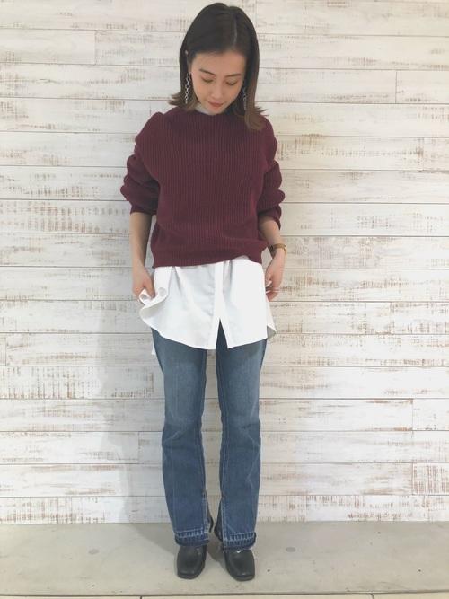 [FREE'S MART] ◆スタンドカラーチュニックシャツ●