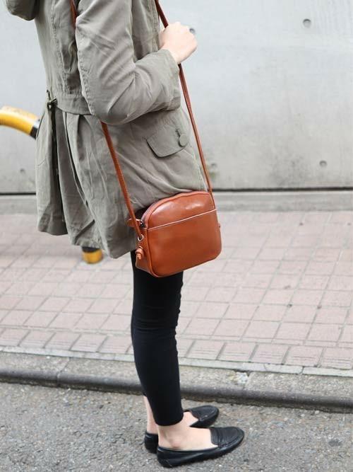 [florist] 【牛革】アンティークレトロぷっくりレザーショルダークラシカルバッグ