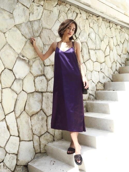 [My shawty] satin combination dress