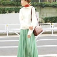 グリーンスカートコーデで上品も可愛いもGET♡2019春夏のスカートコーデ集