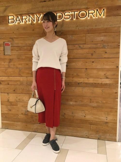 [BARNYARDSTORM] BARNYARDSTORM / フロントZIPタイトスカート