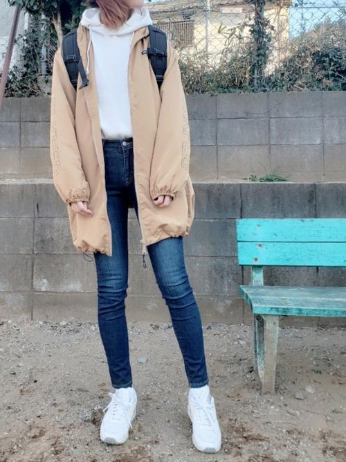 スケータールックがかわいい♡【X-girl】リュック2