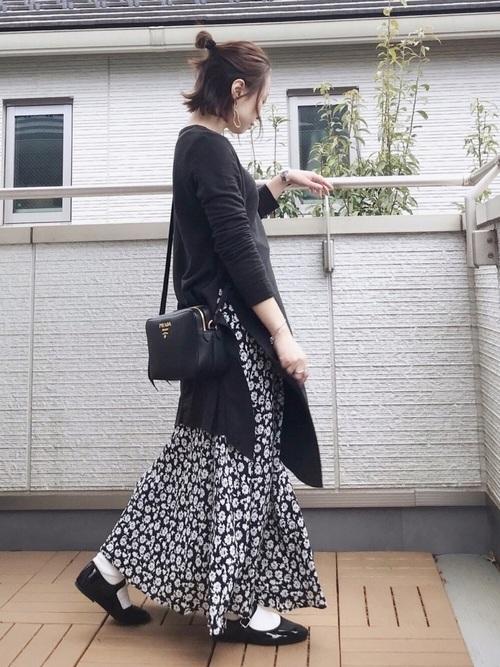 ZARA 花柄スカート3