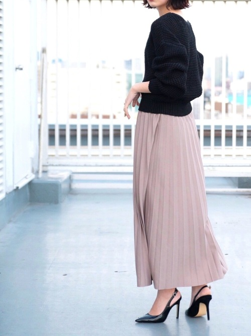 [YARD PLUS] 【ZOZOTOWN限定!】AUNT MARIE'S カノコプリーツマキシスカート