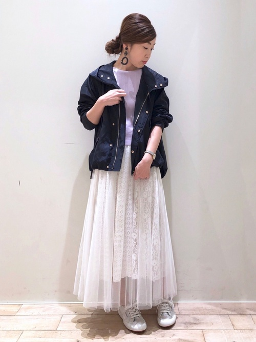 マウンテンパーカー×スカート10