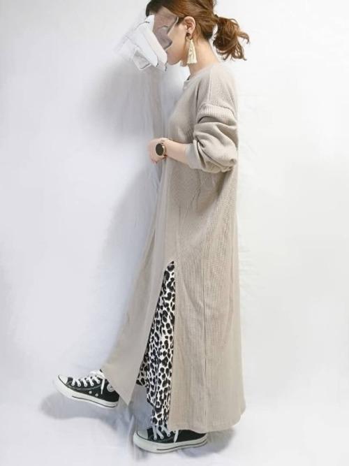 レオパード柄スカート4
