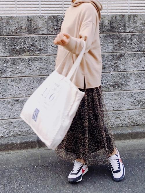 レオパード柄スカート3