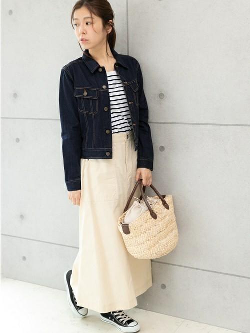 [PREFERIR] ベイカー ポケット ロングスカート