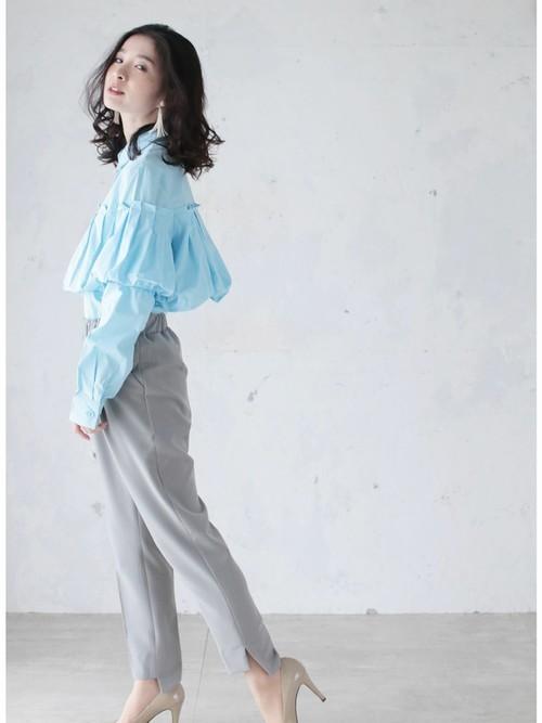 [cawaii] ふんわりバルーンな胸元デザイン。爽やかカラーブラウストップス