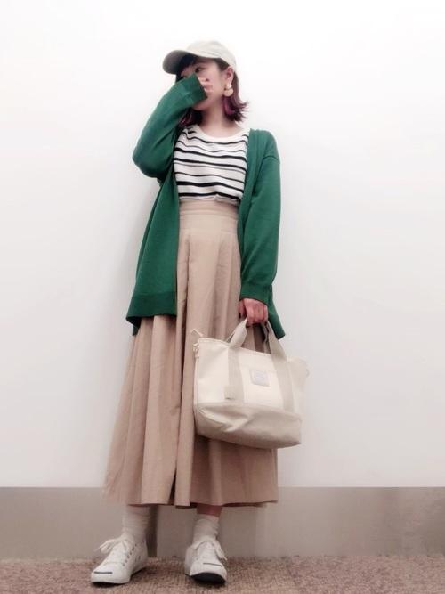 [THE SHOP TK] チノ風フレアスカート