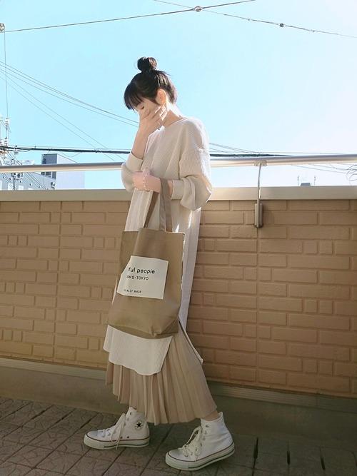 GU ワンピース プリーツスカート
