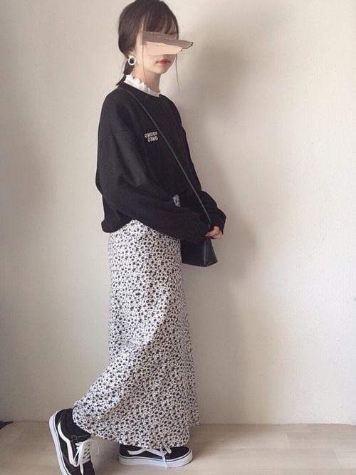 [LOWRYS FARM] フラワーマーメイドスカート