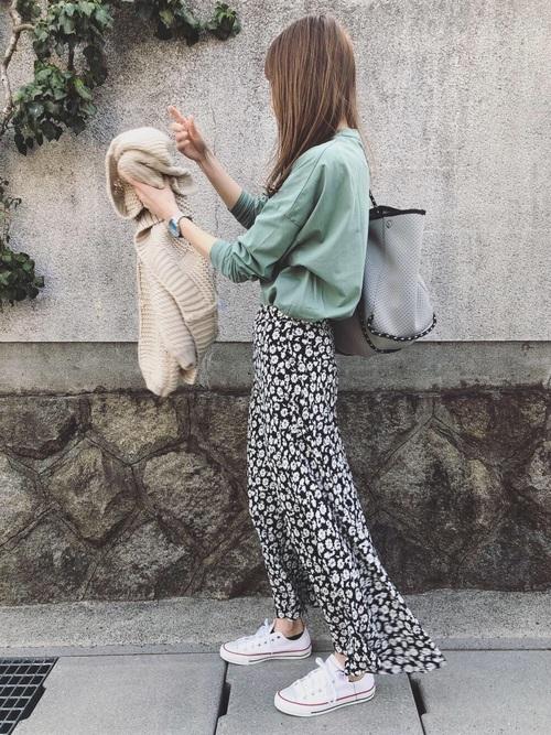 ZARA 花柄スカート2