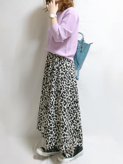 しまむら レオパード柄スカート