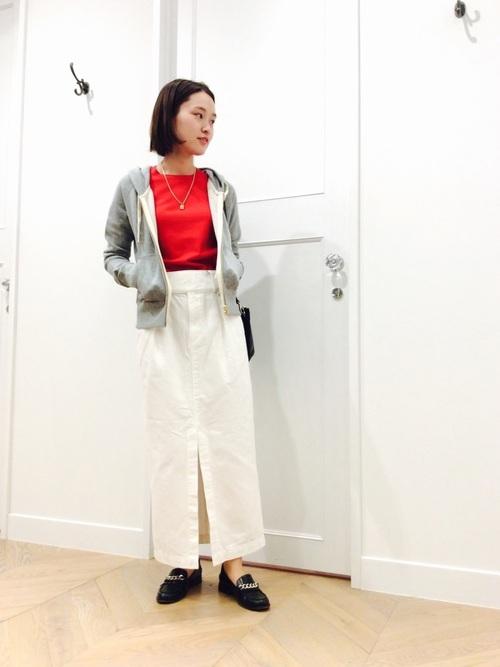 [URBAN RESEARCH] ロングストレートタックデニムスカート