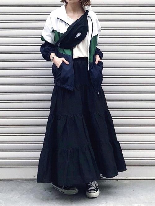 コットンティアードスカート4