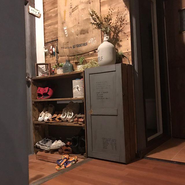 シューズラックDIY⑥元々の靴箱をリメイク17