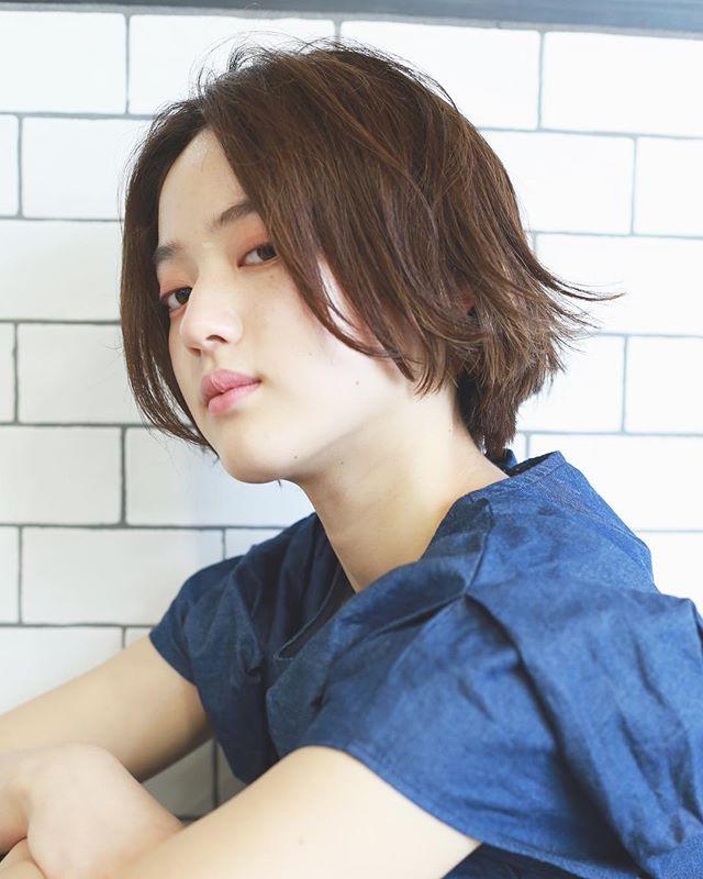 くせ毛のパーマ風アレンジ①ショートヘア6