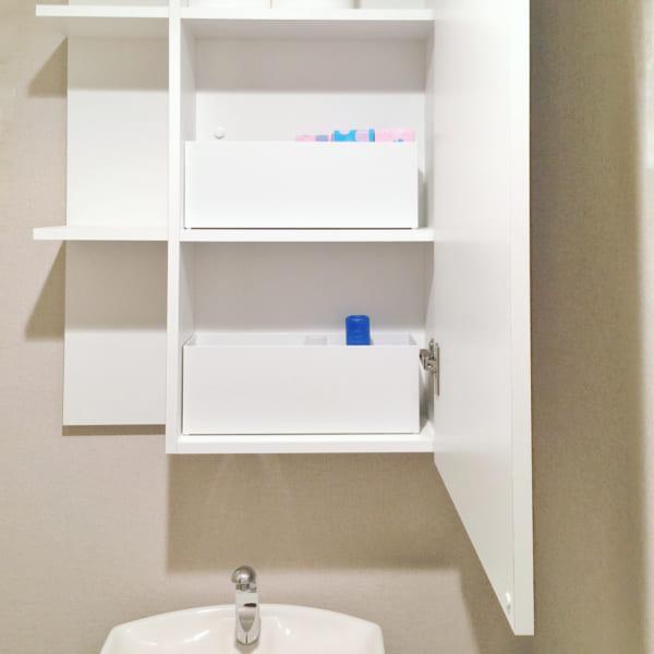 無印 ファイルボックスハーフ トイレの消耗品収納