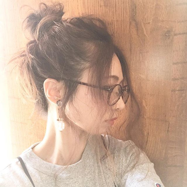 メガネ 前髪 ヘアアレンジ7