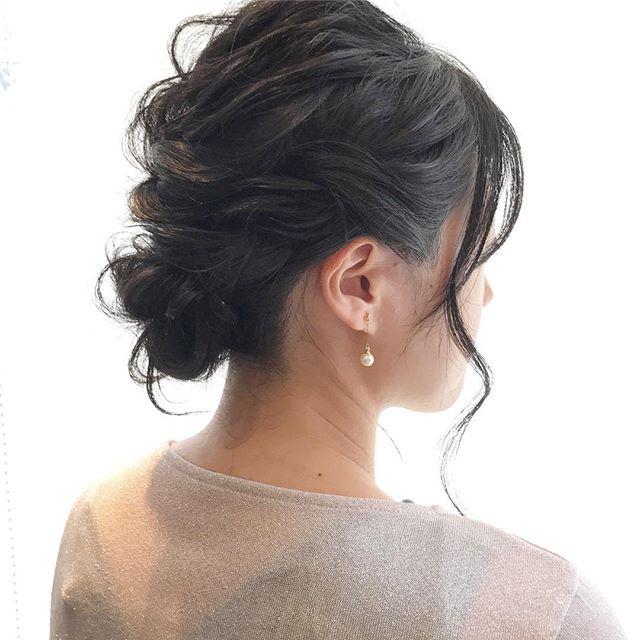 黒髪シニヨン2