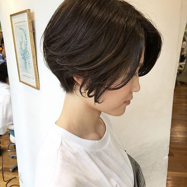 前髪なしの立体ショート2