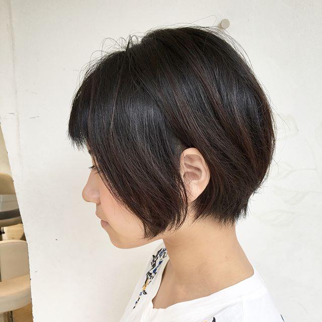 黒髪 ショートボブ 丸顔2