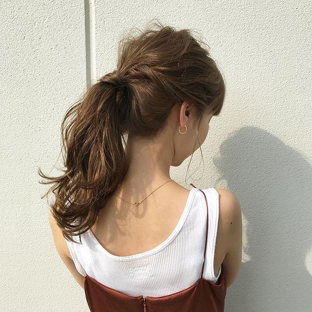 2019 モテる髪型 ポニーテール