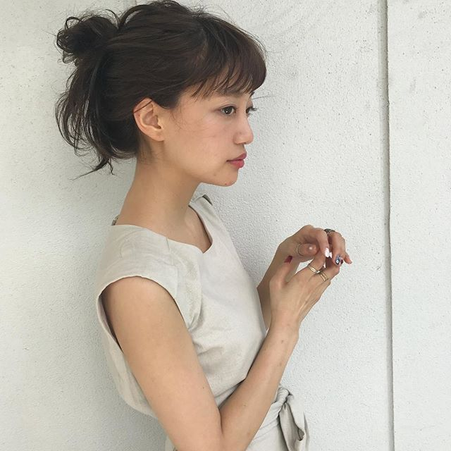 2019 モテる髪型 ゆるお団子