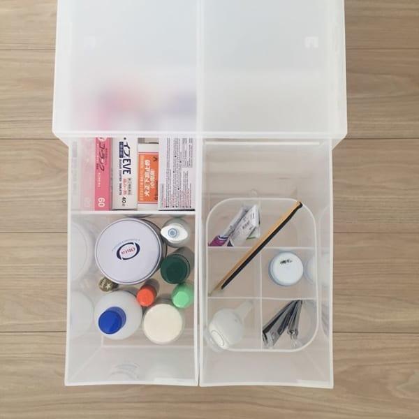 ポリプロピレンケースを使って薬類を分かりやすく収納2