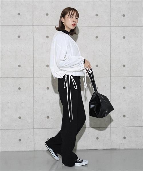 [select MOCA] ハンドバッグとしても使える♪3WAYレザー巾着しぼりバック