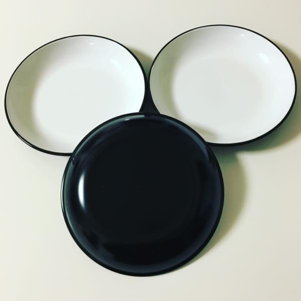 モノトーン丸皿