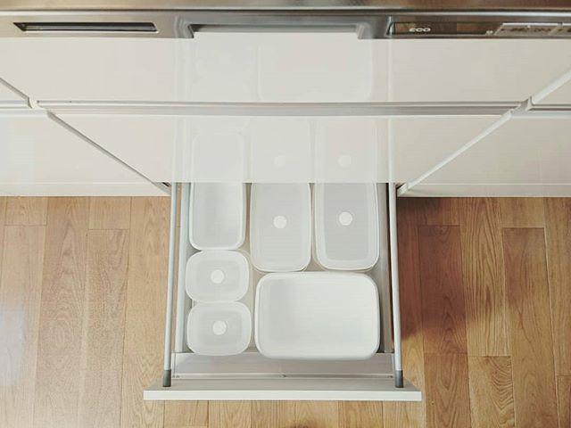 保存容器収納 タッパー キッチン引き出し