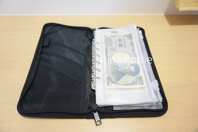ポリエステルパスポートケース・クリアポケット付①家計管理用に使う