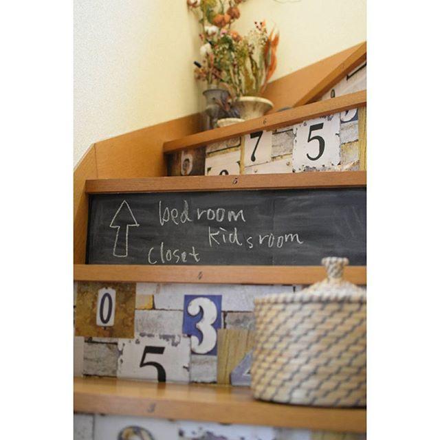 黒板シートを貼ったインテリア実例9