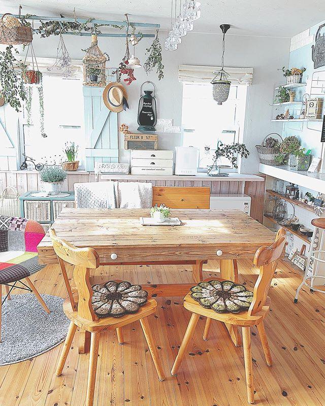 ダイニングテーブル カフェ風6