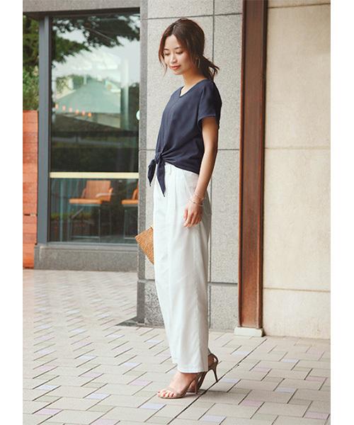 [STYLE DELI] 【Made in JAPAN】リゾートコットンセミワイドパンツ