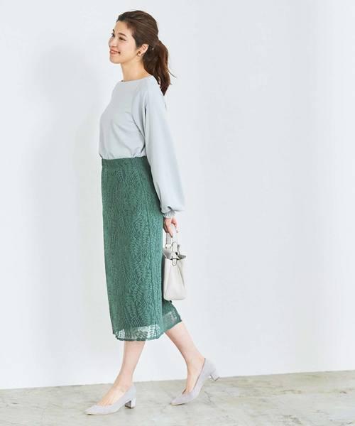 [ur's] レースミドルタイトスカート
