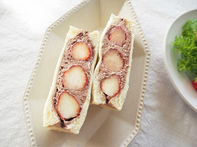 チョコクリームのフルーツサンド