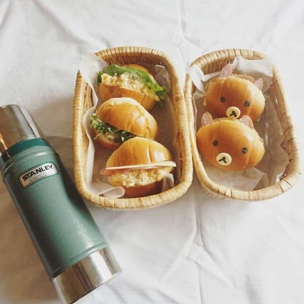 ロールパンで可愛いサンドイッチ