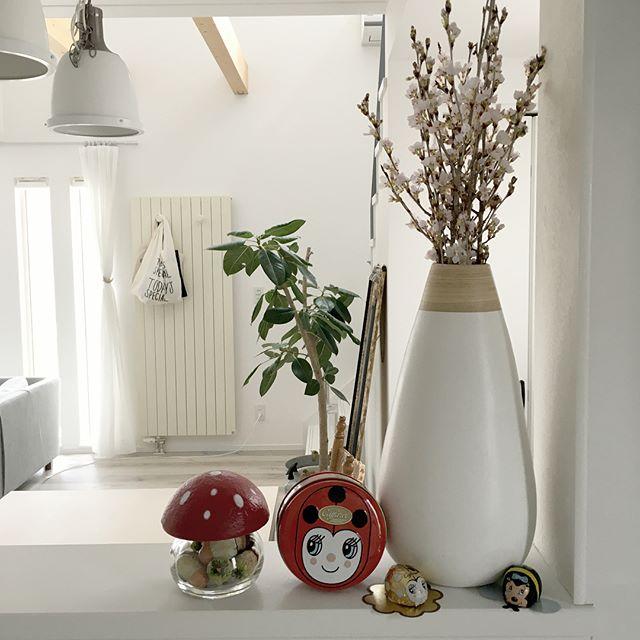 ホワイトインテリア 桜 花瓶