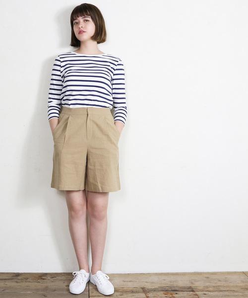 [salle de bal] 【Le Minor / ルミノア】バックVネックボーダーTシャツ