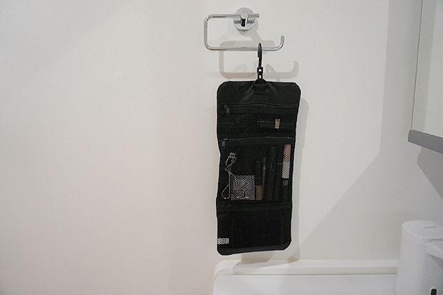 コスメ収納 洗面所 無印良品 吊るせるケース小物ポケット
