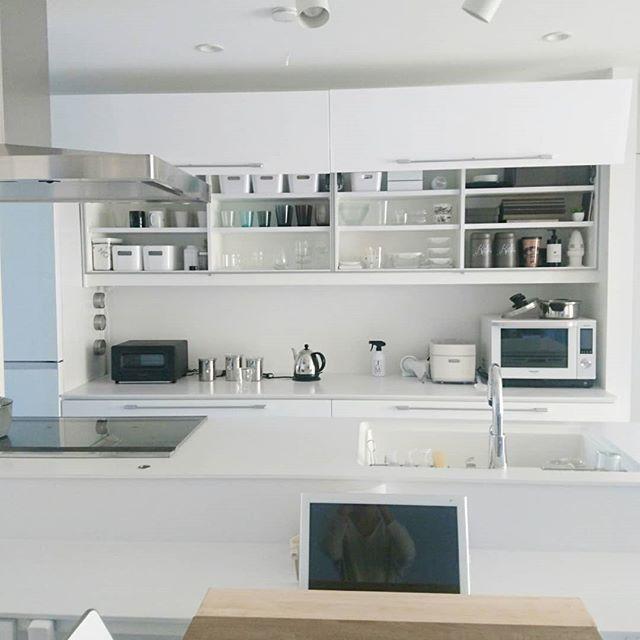 ホワイトキッチン シンプル2